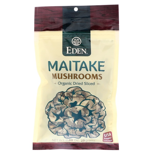 Eden Foods, Maitake Mushrooms, Organic Dried Sliced, .88 oz (25 g) (Discontinued Item)