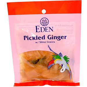Эдэн Фудс, Pickled Ginger with Shiso Leaves, 2.1 oz (60 g) отзывы