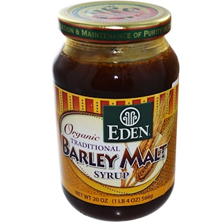 Eden Foods, オーガニックトラディッショナル麦芽シロップ、 20オンス (566 g)