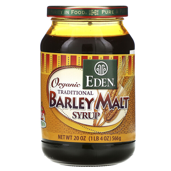 Organic Traditional Barley Malt Syrup, 20 oz (566 g)