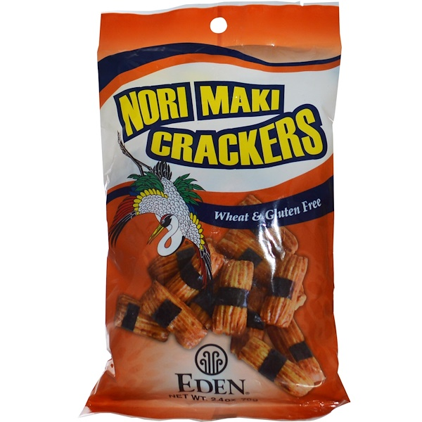 Eden Foods, Nori Maki Crackers, 2.4 oz (70 g) (Discontinued Item)