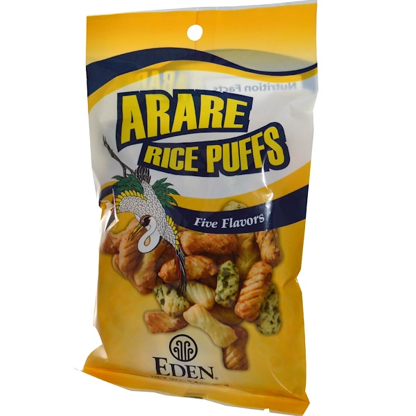Eden Foods, Arare Rice Puffs, Five Flavors, 2.4 oz (70 g) (Discontinued Item)