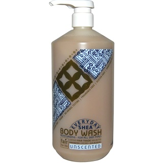 Everyday Shea, Body Wash, Unscented, 32 fl oz (950 ml)