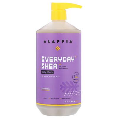 Купить Everyday Shea, Body Wash, Normal to Very Dry Skin, Lavender, 32 fl oz (950 ml)