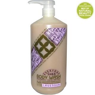 Everyday Shea, Feuchtigkeitsspendende K÷rper-Waschlotion, Lavendel, 32 fl oz (950 ml)