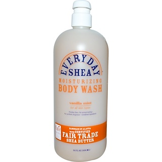 Everyday Shea, Moisturizing Body Wash, Vanilla Mint, 32 fl oz (950 ml)