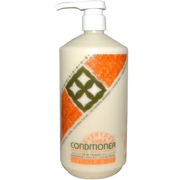 Everyday Shea, Moisturizing Conditioner, Vanilla Mint, 32 fl oz (950 ml) (Discontinued Item)