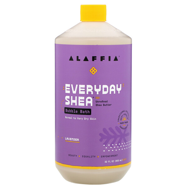 Everyday Shea, Bubble Bath, Lavender, 32 fl oz (950 ml)