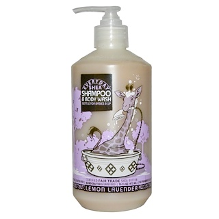Everyday Shea, Shampoo & Body Wash, Gentle for Babies on Up, Lemon-Lavender, 16 fl oz (475 ml)