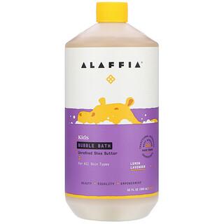 Alaffia, Kids Bubble Bath, Lemon Lavender, 32 fl oz (950 ml)