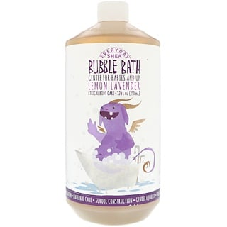 Everyday Shea, Bubble Bath, Babies & Kids, Lemon Lavender, 32 fl oz (950 ml)