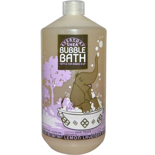 Everyday Shea, Bubble Bath, Gentle For Babies And Up, Lemon Lavender, 32 fl oz (950 ml)