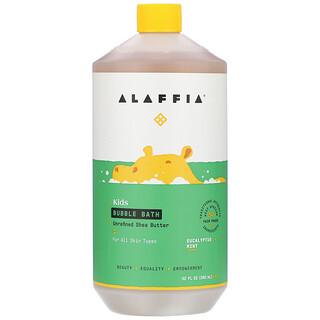 Alaffia, Kids Bubble Bath, Eucalyptus Mint, 32 fl oz (950 ml)