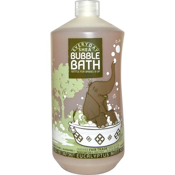 Everyday Shea, Bubble Bath, Gentle for Babies on Up, Eucalyptus Mint, 32 fl oz (950 ml)