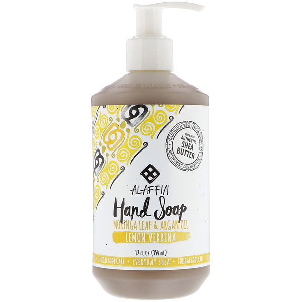 Alaffia, Everyday Shea, Hand Soap, Lemon Verbena, 12 fl oz (354 ml)