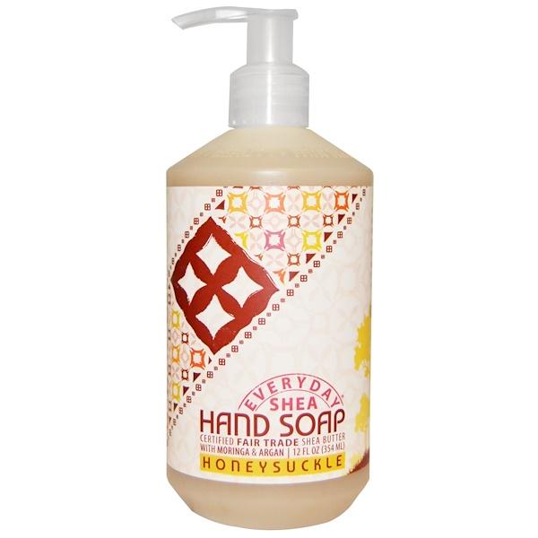 Everyday Shea, Hand Soap, Honeysuckle, 12 fl oz (354 ml) (Discontinued Item)