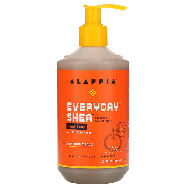 Alaffia, Everyday Shea, Hand Soap, Mandarin Mango, 12 fl oz (354 ml)