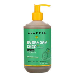 Alaffia, Everyday Shea, Hand Soap, Peppermint Tingle, 12 fl oz (354 ml)