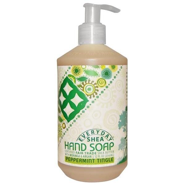 Everyday Shea, Hand Soap, Peppermint Tingle, 12 fl oz (354 ml)