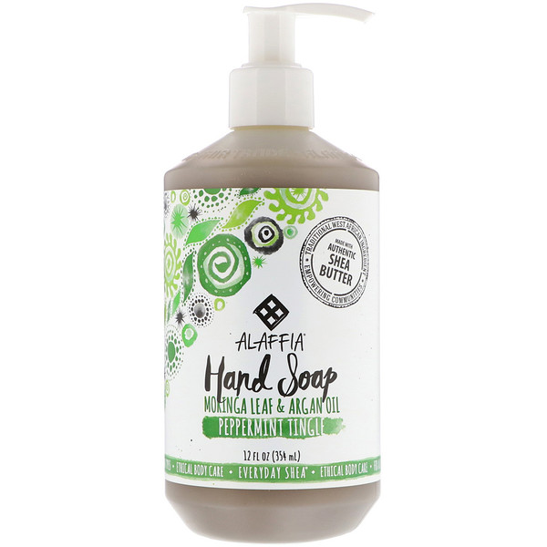 Everyday Shea, Jabón de manos, Peppermint Tingle, 12 fl oz (354 ml)