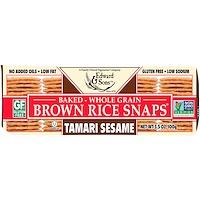 Baked Whole Grain Brown Rice Snaps, Tamari Sesame, 3.5 oz (100 g) - фото