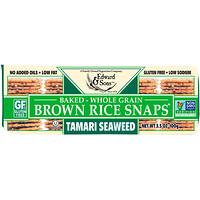 Цельнозерновые хрустящие хлебцы из бурого риса, морская водоросль тамари, 3,5 унц. (100 г) - фото