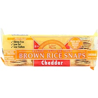 Baked Brown Rice Snaps, Cheddar, 3.5 oz (100 g) - фото