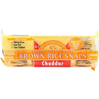 Edward & Sons, Baked Brown Rice Snaps, Cheddar, 3.5 oz (100 g)
