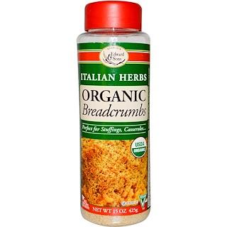 Edward & Sons, Breadcrumbs, Italian Herbs, Organic, 15 oz (425 g)