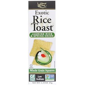 Эдвард энд Санс, Exotic Rice Toast, Whole Grain Squares, Jasmine Rice & Spring Onion, 2.25 oz (65 g) отзывы