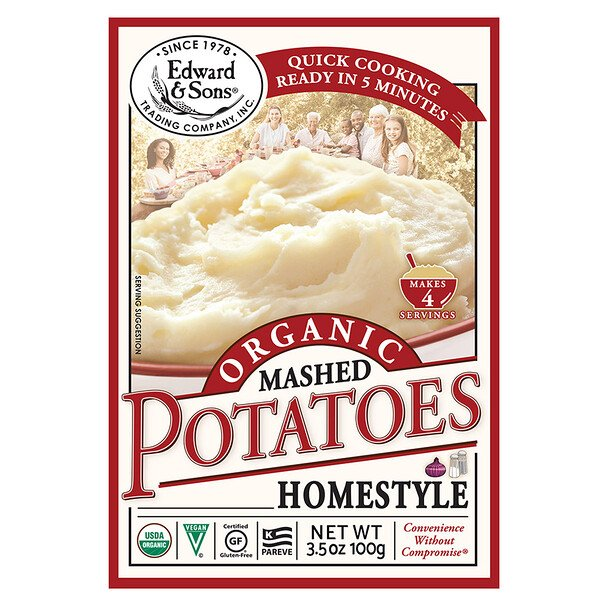 Organic Mashed Potatoes, Home Style, 3.5 oz (100 g)