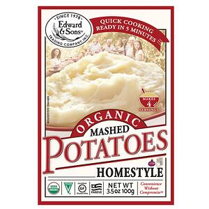 Эдвард энд Санс, Organic Mashed Potatoes, Home Style, 3.5 oz (100 g) отзывы