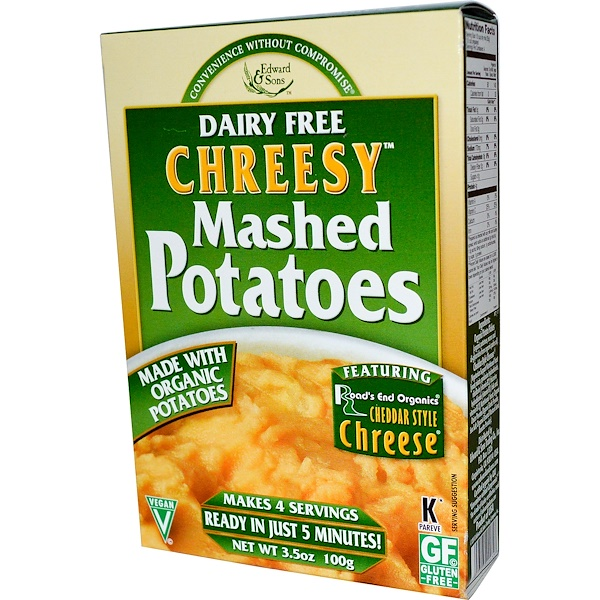 Edward & Sons, Chreesy Mashed Potatoes, Dairy Free, 3.5 oz (100 g)  (Discontinued Item)