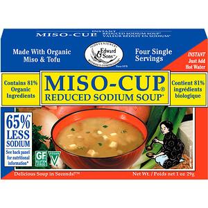 Эдвард энд Санс, Miso-Cup, Reduced Sodium Soup, 4 Single Serving Envelopes, 7.2 g Each отзывы покупателей
