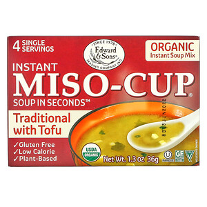 Эдвард энд Санс, Instant Miso-Cup, Traditional with Tofu, 4 Single Servings, 1.3 oz (36 g) отзывы покупателей