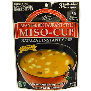 Edward & Sons, Miso-Cup, Japanese Restaurant Style, 2.9 oz.