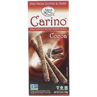 Edward & Sons, Carino Filled Wafer Rolls, Cocoa, 3.5 oz (100 g)