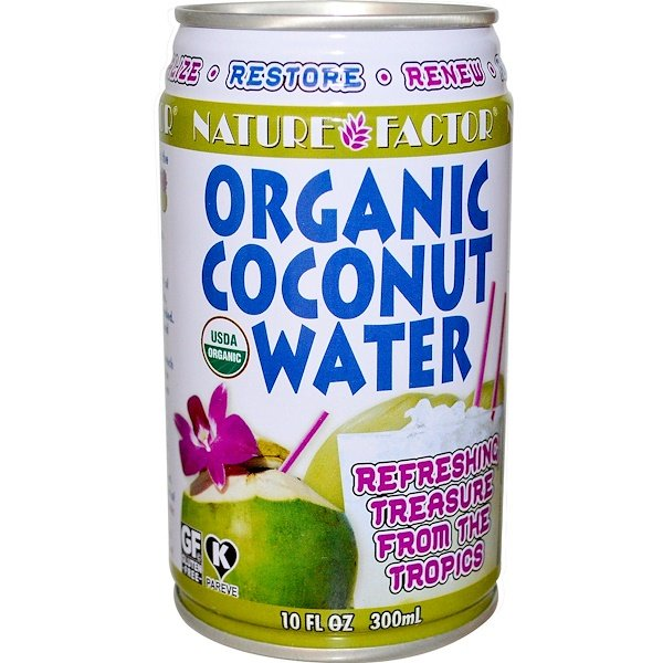 Edward & Sons, Nature Factor, Organic Coconut Water, 10 fl oz (300 ml) (Discontinued Item)