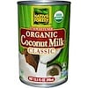 Edward & Sons, Organic Coconut Milk, Classic, Unsweetened, 13.5 fl oz (398 ml) (Discontinued Item)