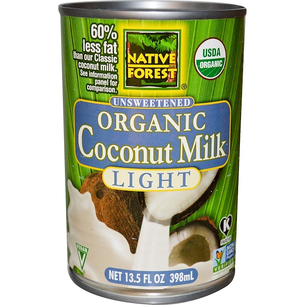 Edward & Sons, Organic Coconut Milk, Light, Unsweetened, 13.5 fl oz (398 ml) (Discontinued Item)