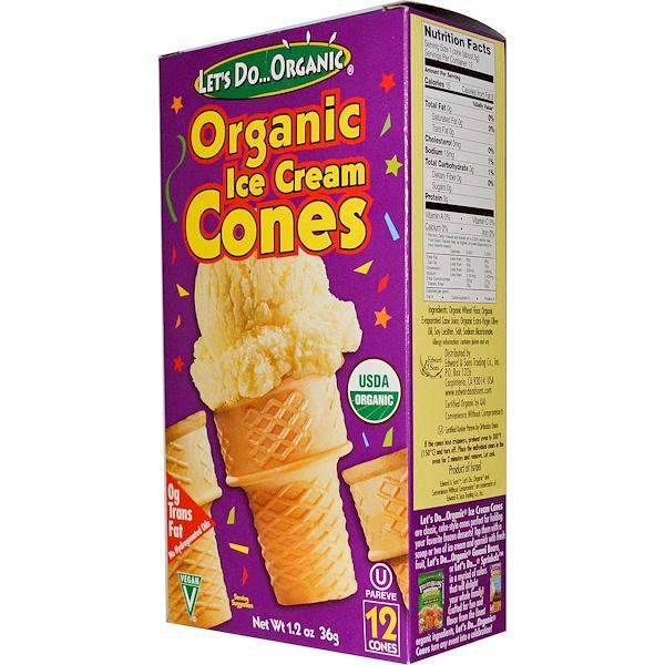 Edward & Sons, Organic Ice Cream Cones, 12 Cones, 1.2 oz (36 g) (Discontinued Item)