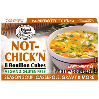 Edward & Sons, Not-Chick'n, Bouillon Cubes, 8 Cubes