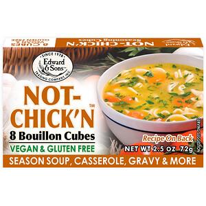 Эдвард энд Санс, Not-Chick'n, Bouillon Cubes, 8 Cubes отзывы покупателей