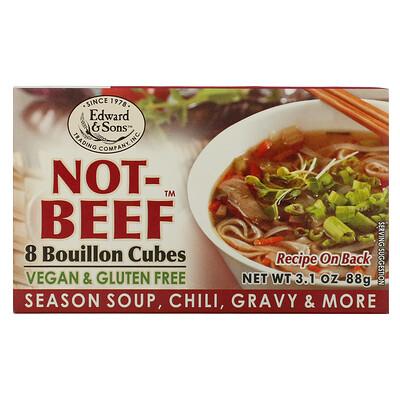 Edward & Sons Not-Beef Bouillon Cubes, 8 Cubes, 3.1 oz (88 g)  - купить со скидкой