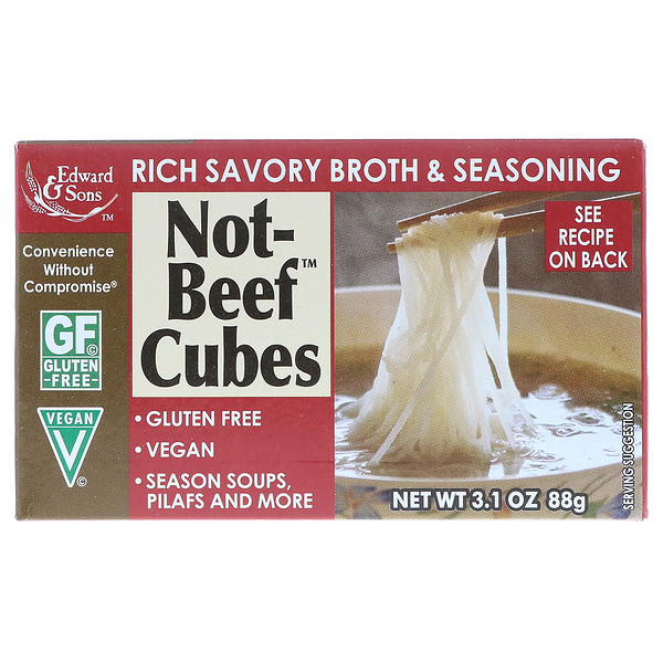 Edward & Sons, Not-Beef Bouillon Cubes, 3.1 oz (88 g)