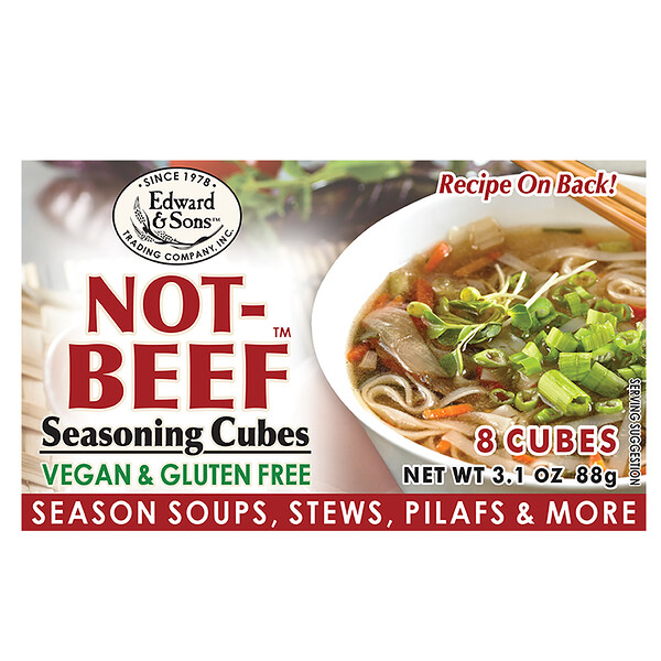 Edward & Sons, Not-Beef Cubes, 3.1 oz (88 g)