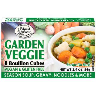 Edward & Sons, Garden Veggie, Bouillon Cubes, 8 Cubes