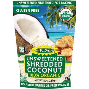 Эдвард энд Санс, Let's Do Organic, 100% Organic Unsweetened Shredded Coconut, 8 oz (227 g) отзывы