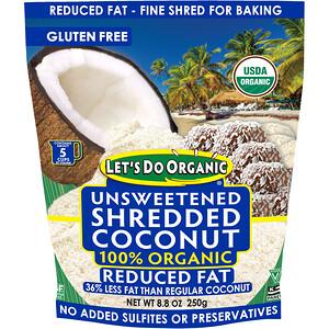 Эдвард энд Санс, Let's Do Organic, 100% Organic Unsweetened Shredded Coconut, Reduced Fat, 8.8 oz (250 g) отзывы