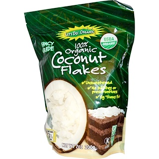 Edward & Sons, Coconut Flakes, Unsweetened, Organic, 7 oz (200 g)